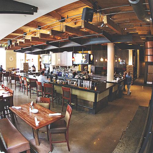 Bar dining area Lucas Park Grille