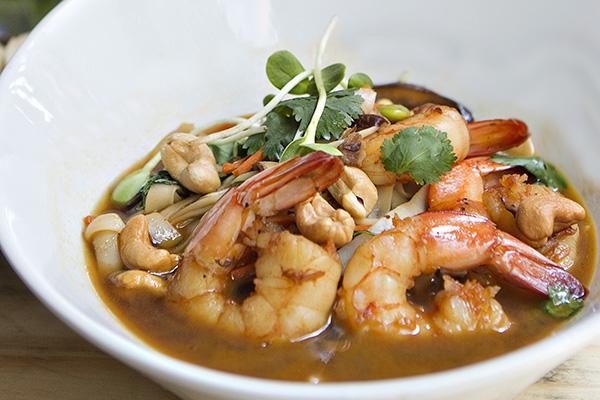 Shrimp bowl entree Lucas Park Grille